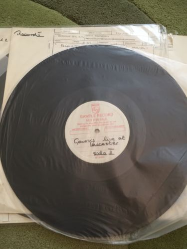 GENESIS DUTCH LIVE 73 DOUBLE LP TEST PRESS 1 Of 12 KNOWN COPIES   Papers