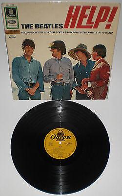 BEATLES LP HELP Export Schweiz Odeon SMO 984008  gelborange f  Labelsammler RAR
