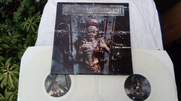 Iron Maiden   The X Factor 2 LP UK 1995 Rare original Clear vinyl NM