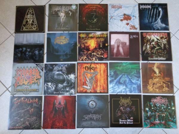 Black und Deathmetal Vinyl Sammlung 20 LP   s Falkenbach Morbid Angel Enslaved