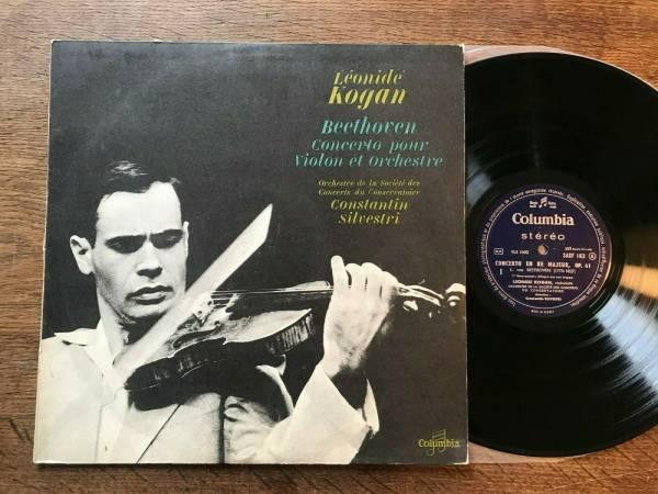 LEONIDE KOGAN Beethoven Violin Concerto FRENCH LP COLUMBIA SAXF 162
