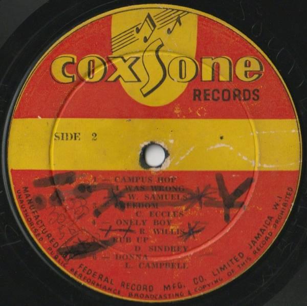 MEGA RARE SKA COXSONE DODD FIRST EVER LP RELEASE  COXSONE LABEL   UNTITELED