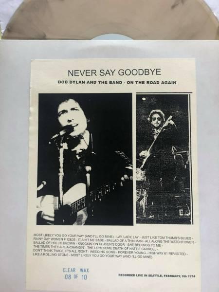 BOB DYLAN 2 LP NEVER SAY GOODBYE COPY 8 10 CLEAR WAX NOT TMOQ WHITE BEAR
