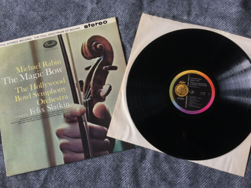 RARE Rabin The Magic Bow SP 8510 First UK Rainbow label Capitol Stereo LP NM  EX