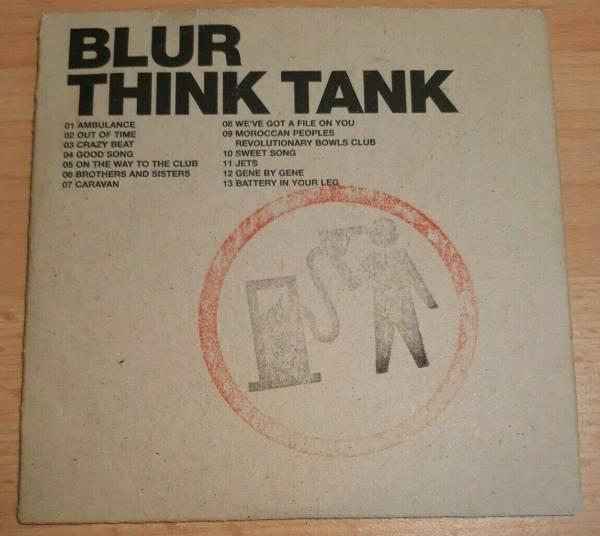 Blur        Think Tank  Banksy Hand Stamped Petrol Head Card Sleeve Promo CD  2003