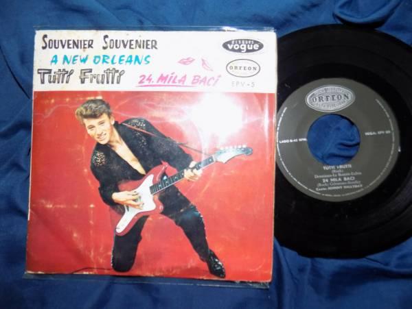 JOHNNY  HALLYDAY   ORIGINAL  196   45 RPM  EP  ROCK  VENEZUELA  ODEON   VG