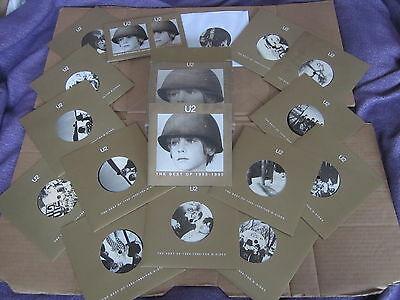 U2 Best of 1980 1990 RARE 14x 7  45 RPM   2x CD ORIGINAL UK PROMO ONLY BOX SET