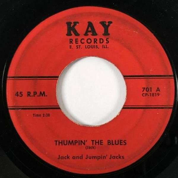 JACK   JUMPIN  JACKS Thumpin  The Blues   More More Kay Rockabilly RARE 45 HEAR