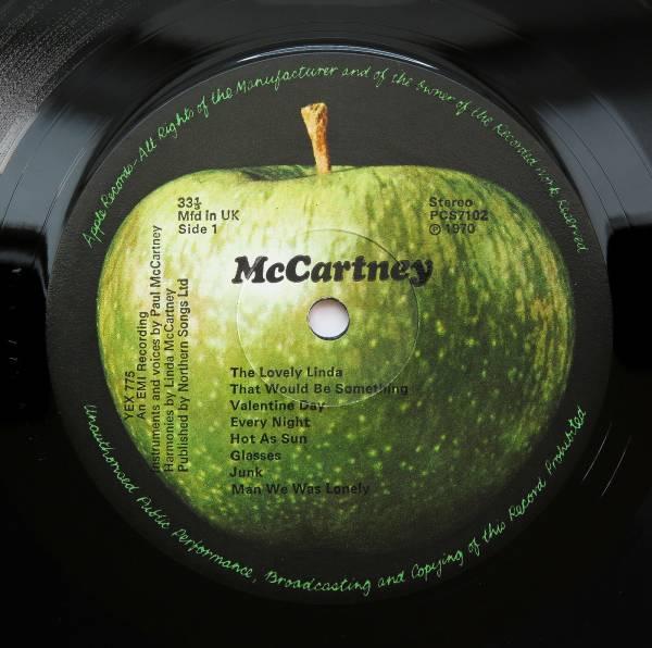 Paul McCartney   McCartney   UK 1970 2U 2U 1st Press Apple MINT  LP Beatles