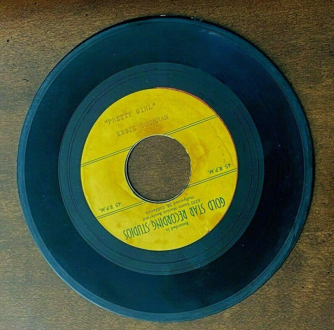 EDDIE COCHRAN 7  Acetate Record  PRETTY GIRL GOLDSTAR RECORDS RARE ROCK n ROLL