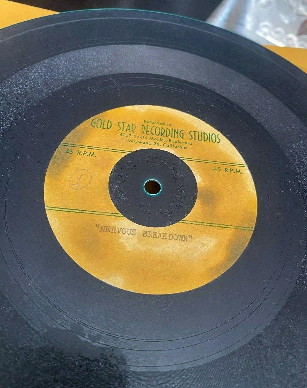 EDDIE COCHRAN 10  Acetate 45 RPM Record NERVOUS BREAKDOWN GOLD STAR RECORDS
