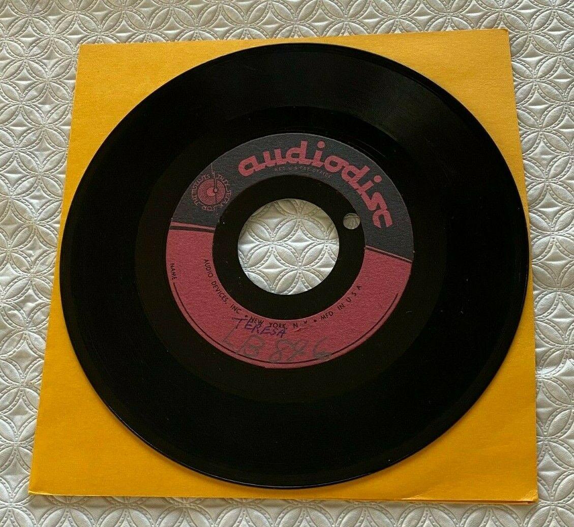 EDDIE COCHRAN 7  Acetate 45 RPM Record  Teresa     Pretty Girl  Rock N Roll Rare