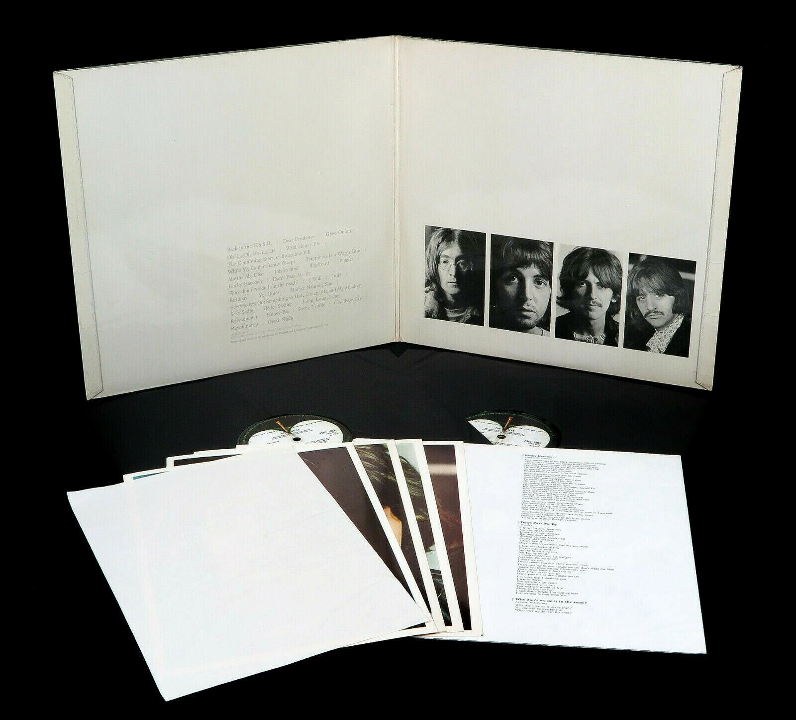 The Beatles   White Album UK 1968 1st  MONO  Press No 0071729 LP 100  Complete