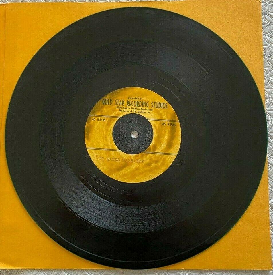 EDDIE COCHRAN 10  Acetate 45 RPM Record  I HATES RABBITTS     MEET MR TWEEDY