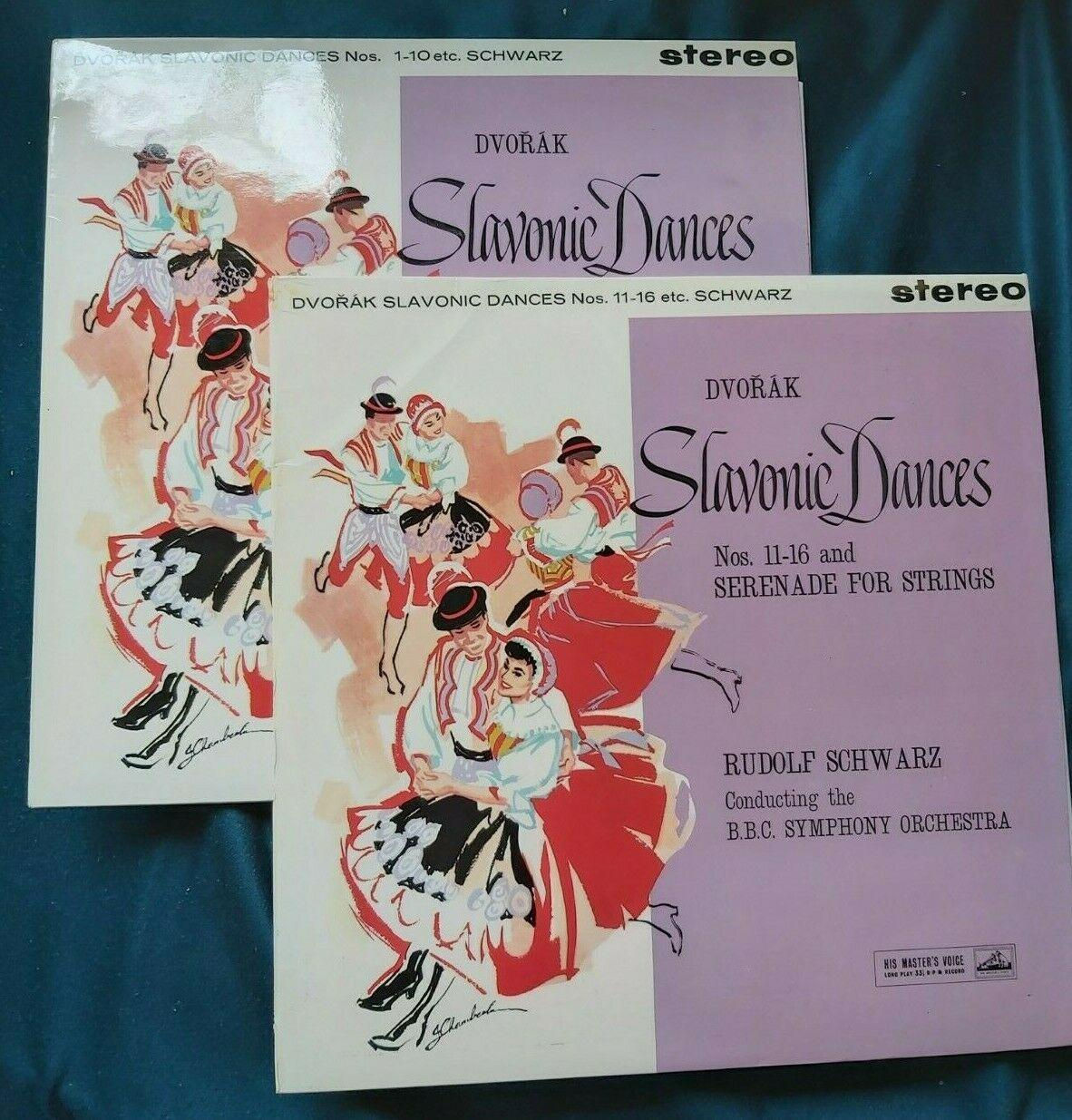 Dvorak slavonic dances Rudolph Schwarz  BBC HMV Asd 402 403 W G ed1 2 Lp NM