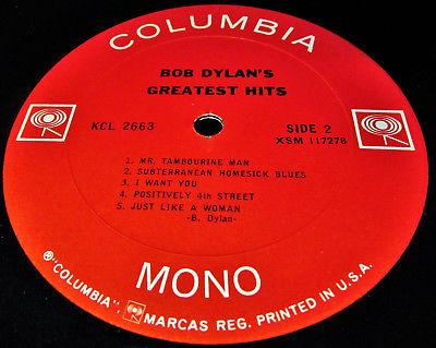 TOP M 67 MONO LP  DAZZLING POPART POSTER  BOB DYLAN  63 66 Folk psych GEM
