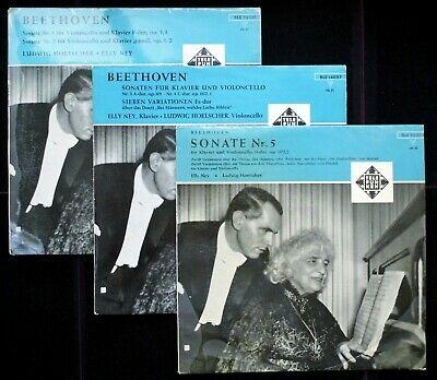 Beethoven  Complete Cello Sonatas   Ludwig Hoelscher   Telefunken ED1 3LP Set