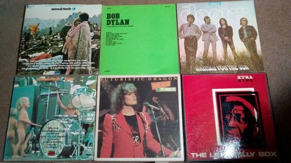 job lot 12  vinyl  LP Records inc Woodstock 1 2 Leadbelly Love T rex