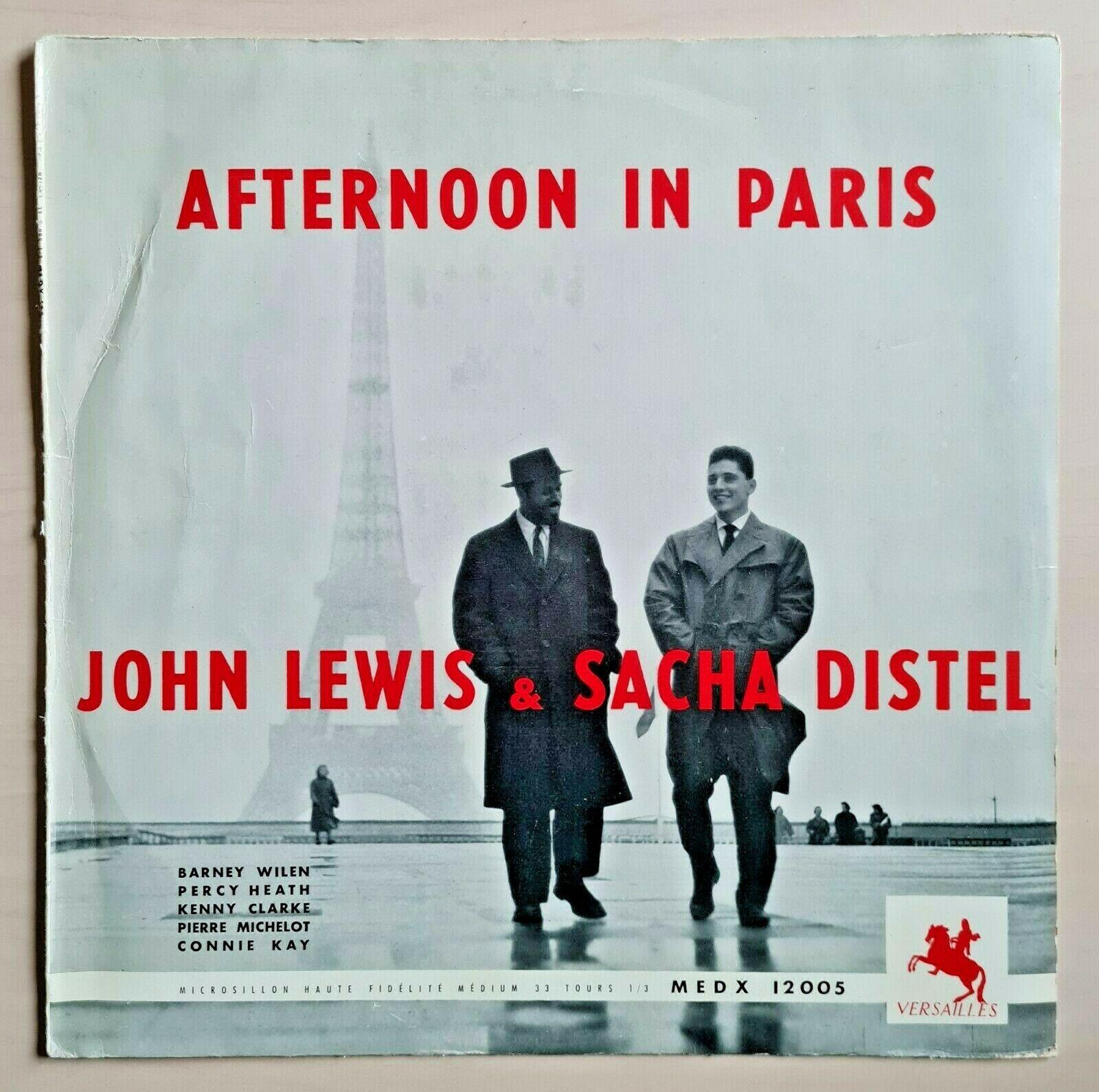 JOHN LEWIS   SACHA DISTEL   AFTERNOON IN PARIS LP orig 1956 VERSAILLES press EX