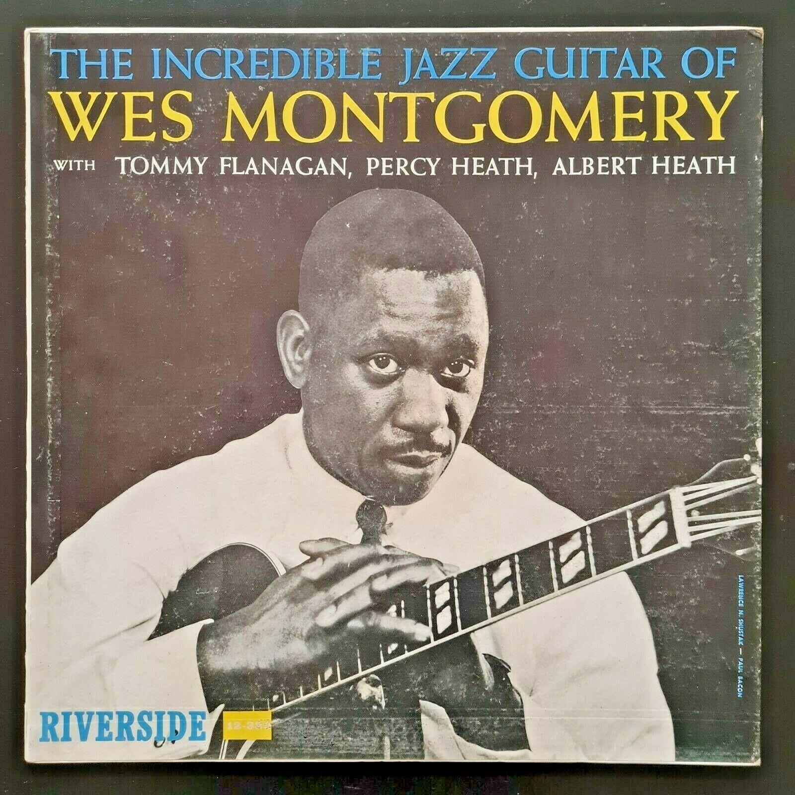 THE INCREDIBLE JAZZ GUITAR OF WES MONTGOMERY LP orig 1st 1960 RIVERSIDE DG PROMO