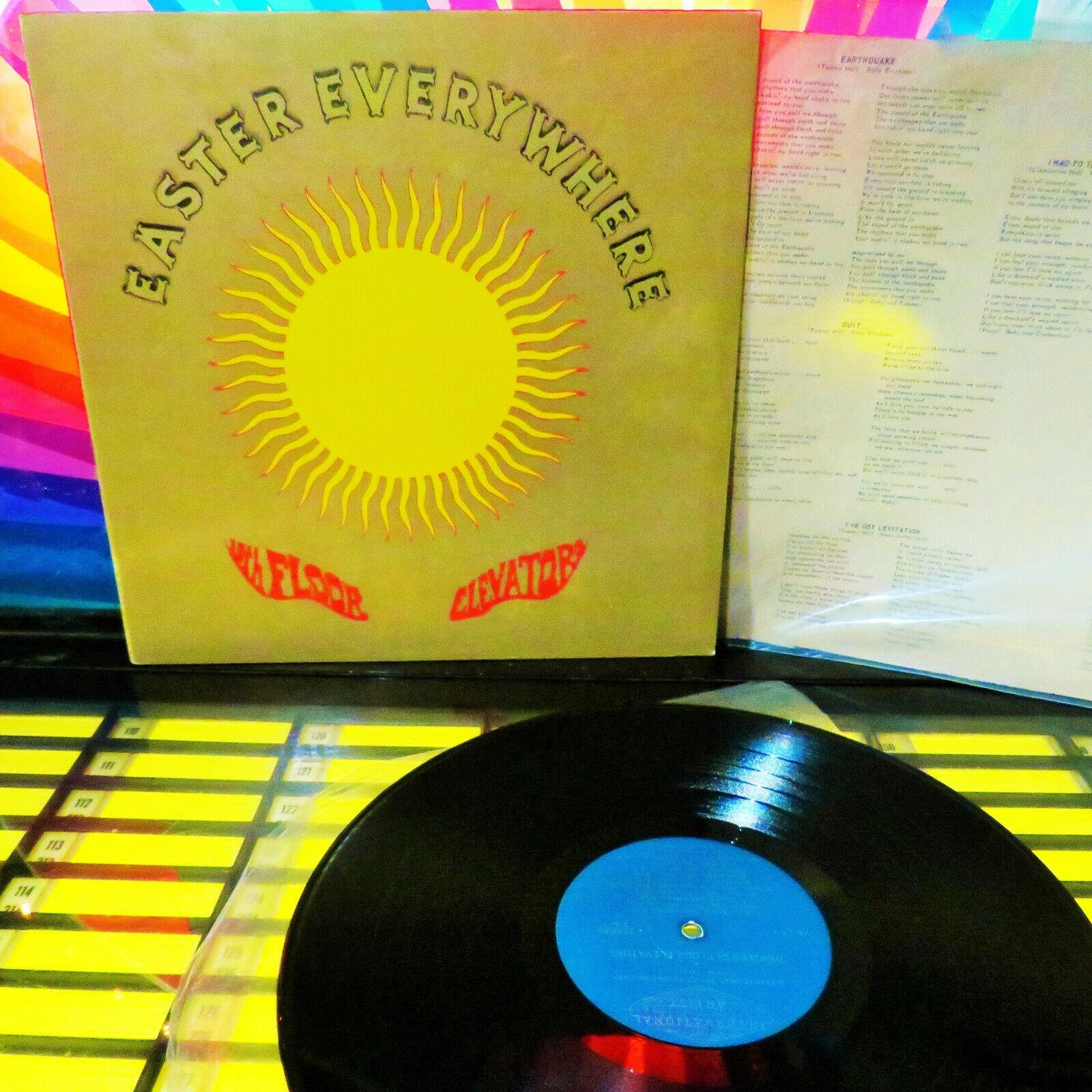 1967 POSTUROS LP   LYRICS INSERT   13th FLOOR ELEVATORS   EASTER   PSYCH GARAGE