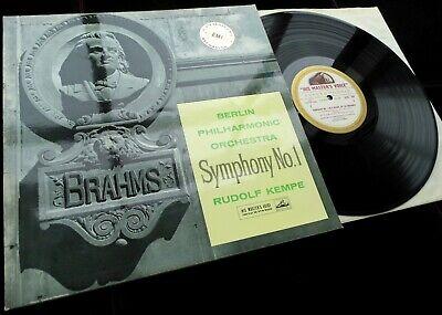 Brahms  Symphony No  1   Rudolf Kempe   BPO   HMV ASD 350 ED1 LP