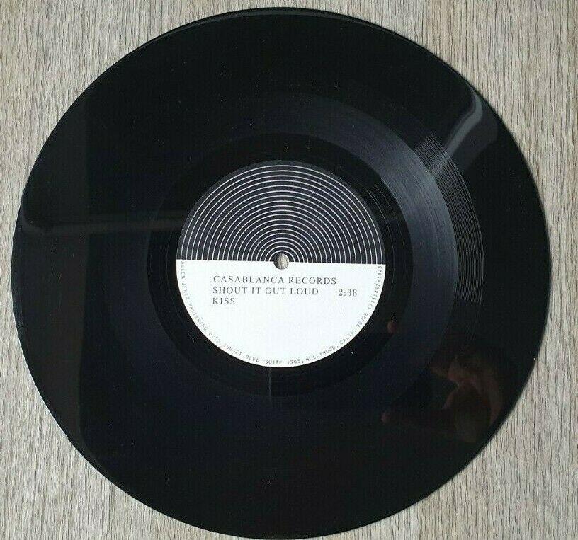 KISS 10  ACETATE   SHOUT IT OUT LOUD   1976 45 rpm Promo   Test