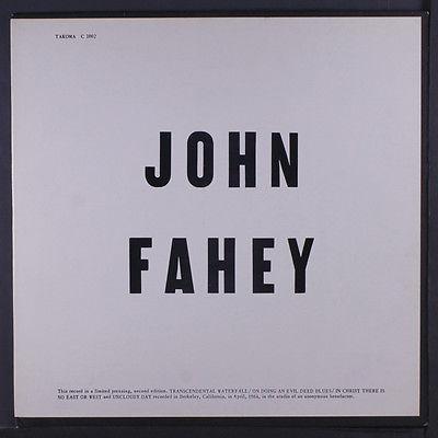 JOHN FAHEY  Blind Joe Death LP  1964 black silver lines label 2nd version disc