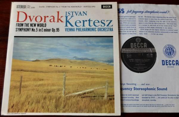 DECCA SXL 2289 ED 1 DVORAK SYMPHONY NO  5 LP KERTESZ NM  1961  ENGLAND