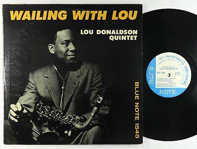 Lou Donaldson Quintet   Wailing With Lou LP   Blue Note Mono DG RVG Ear W 63rd