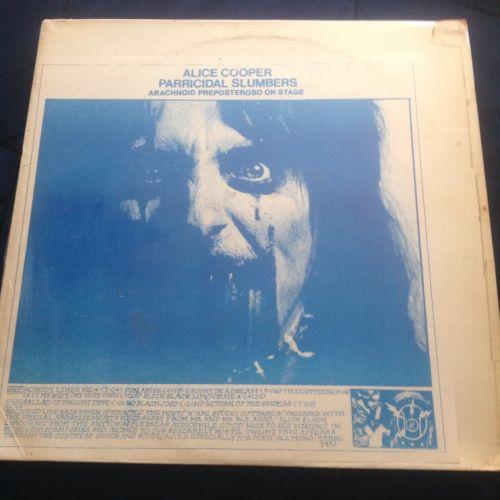 Alice Cooper Paracidal Slumbers LP Rare TMOQ  easy action  NICE