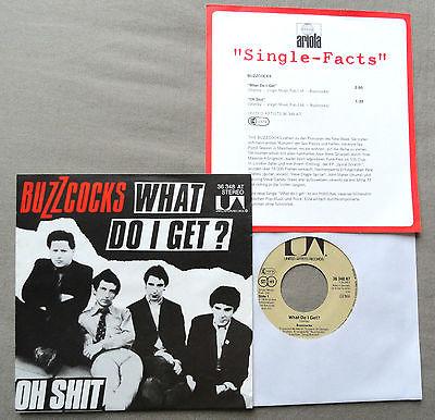 BUZZCOCKS  what do I get 7  Sheet Punk 1978 GER  Sex Pistols KBD Damned MINT