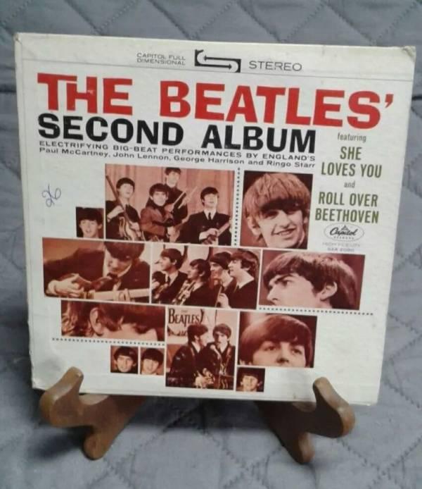 THE BEATLES  SECOND ALBUM w SLEEVE COMPACT 7    33RPM    JUKEBOX   RARE