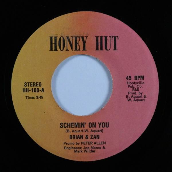 Modern Soul Boogie 45 BRIAN   ZAN Schemin  On You HONEY HUT HEAR