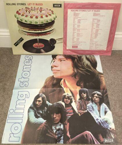 THE ROLLING STONES Let It Bleed LP Decca 1969 Mono UK 1st Press