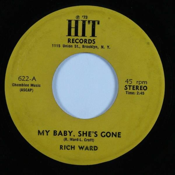 Northern Soul Funk 45 RICH WARD My Baby  She s Gone HIT HEAR