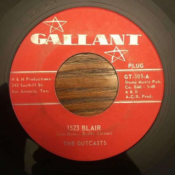 The Outcasts   1523 Blair Smokestack Lightning 45 Gallant San Antonio Garage