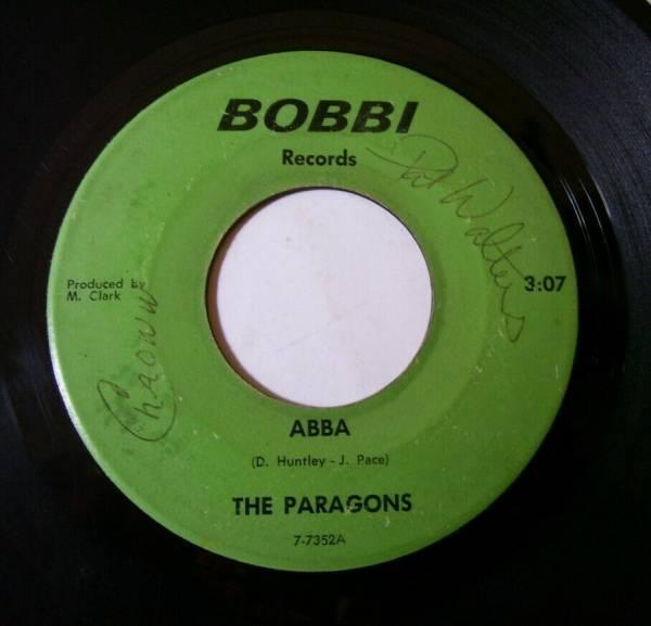 THE PARAGONS  Abba  BOBBI RECORDS Orig  1967 Garage Rock 45 RARE