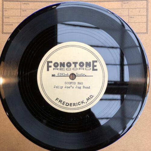 RARE FONOTONE RECORDS ACETATE JOE BUSSARD BLUES BLUEGRASS ROOTS HILLBILLY 45