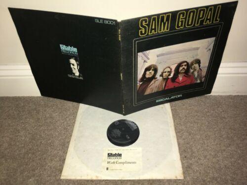 SAM GOPAL Escalator LP Stable 1969 Stereo DJ DEMO   PROMO CARD UK 1st Press