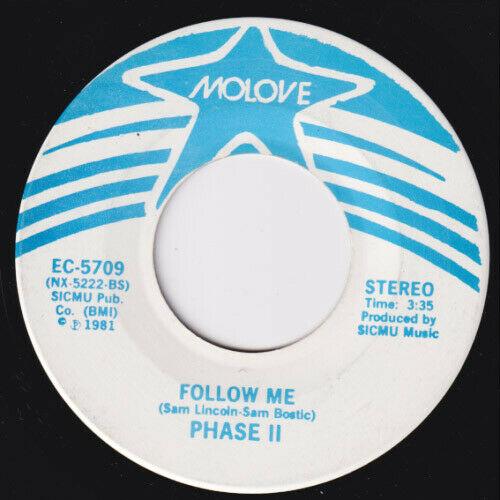 PHASE II 2 Follow Me  ULTRA RARE  modern soul 45 disco synth boogie E Mc2 HEAR