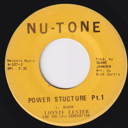 LONNIE LESTER Power Structure HIS ABSOLUTE RAREST 45 northern soul r b funk HEAR