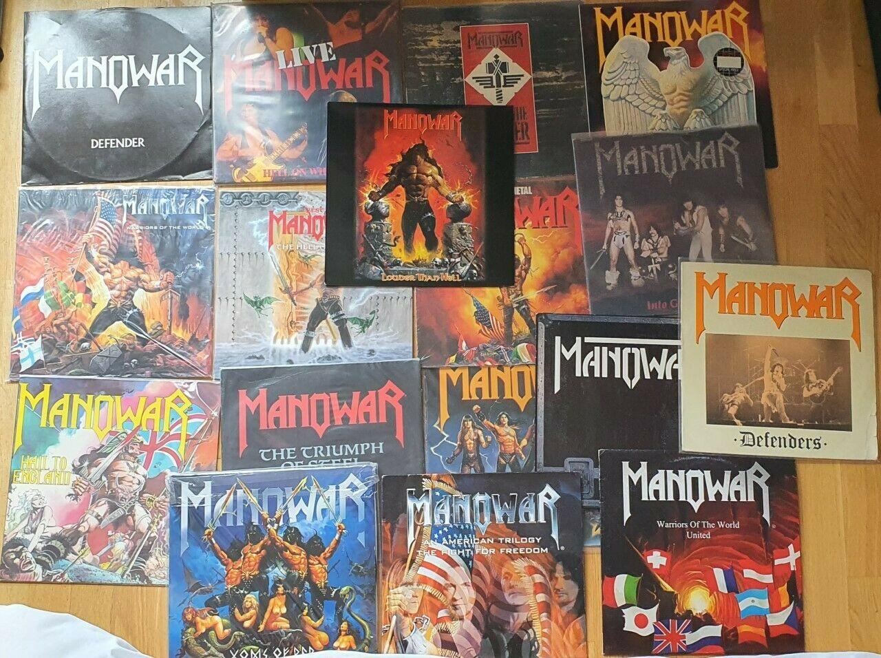 MANOWAR LP  LOTE LPS   HEAVY METAL  TRUE METAL