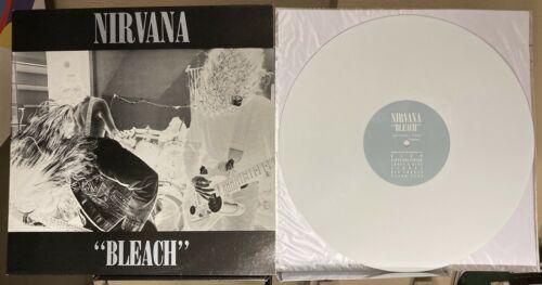 Nirvana    Bleach    Original 1989 UK White Vinyl LP Sub Pop Tupelo 300 Copies VG