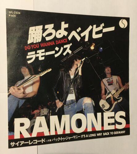Ramones   Do You Wanna Dance Rare Original Japanese 7    P S Punk