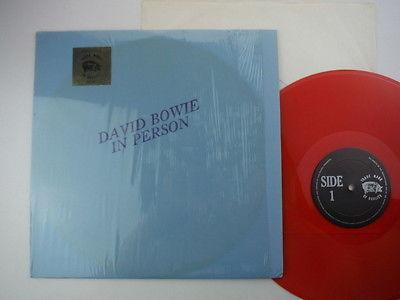 David Bowie In Person  USA press Red vinyl blue textured card slv  Rare TMOQ LP