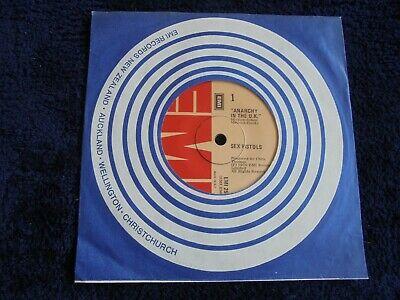 Sex Pistols   Anarchy In The U K  1976 NEW ZEALAND 45 EMI MEGA RARE PUNK KBD