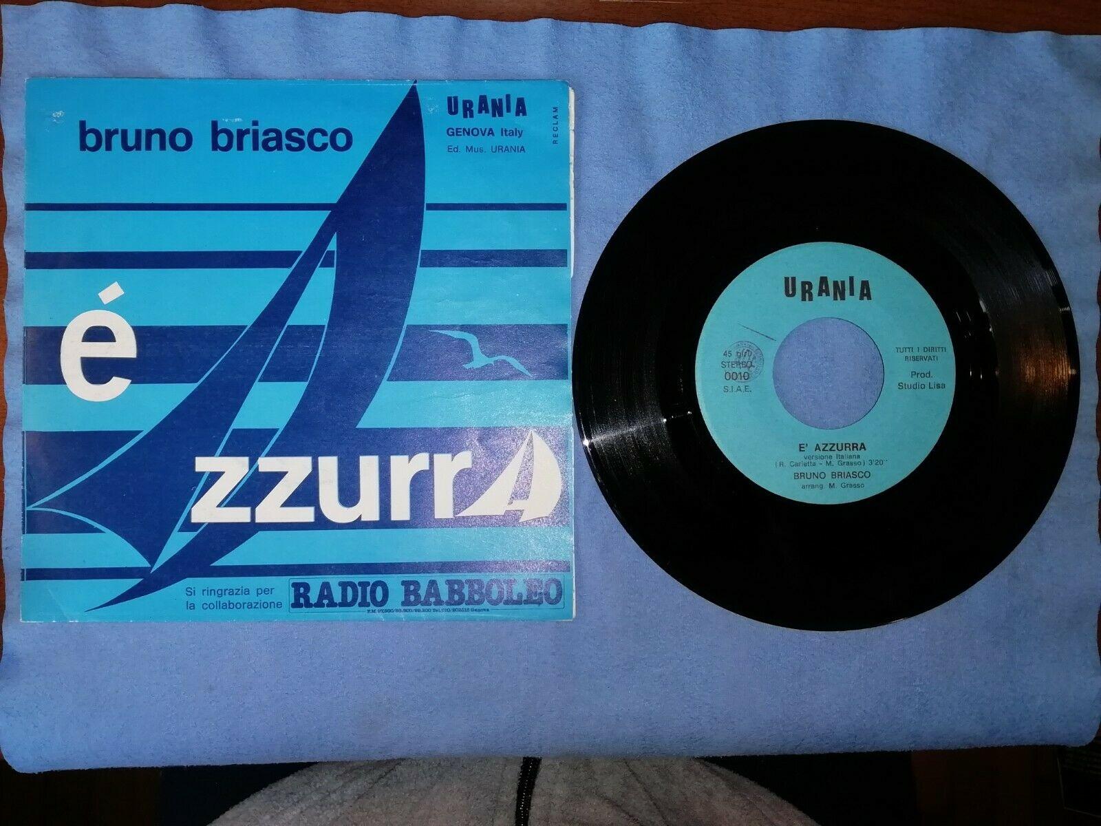 BRUNO BRIASCO    AZZURRA   URANIA  83 Original italy NM VG  ITALO DISCO MEGA RARE