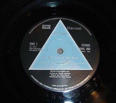 Pink Floyd Dark Side Of The Moon Vinyl LP 1st Pressing Solid Blue Prism