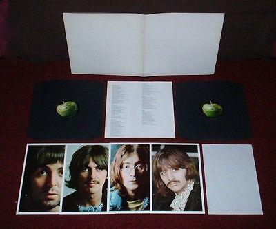 BEATLES White Album D LP 1968 TOP OPENING MONO 1st Press   INSERTS   SPACER